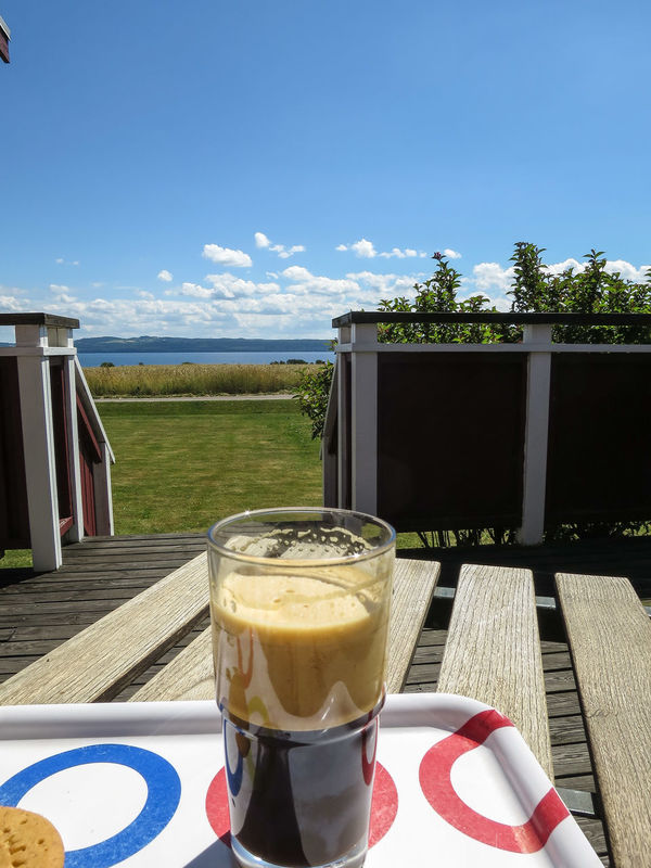 Time for a Frappe , this Hot Day on Lovely Visingsö ☺