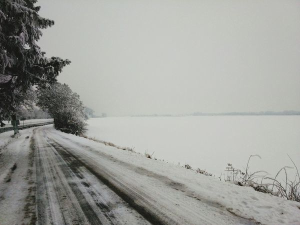 Road Snow Day White Background Snow ❄ Likethis :)