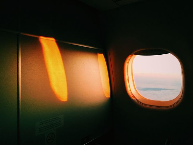 Sunset From An Airplane Window