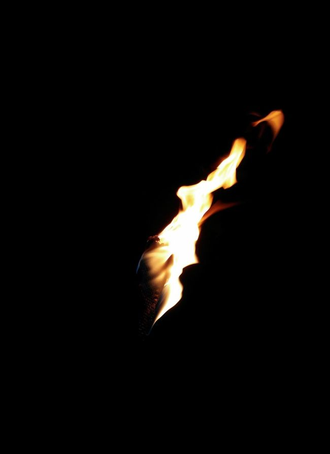 Burning torch in the night Black Background Black Background Burning Burning Burning Torch Close-up Fire Fire - Natural Phenomenon Flame Glowing Heat Heat - Temperature Illuminated Night Nightlife No People Silvester Torch Torches Torchlight