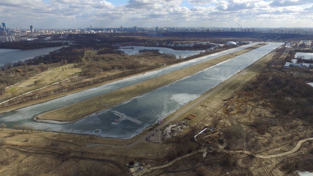 Flying over Moscow channels Water Aerial View Outdoors Landscape No People Nature Day Sky Water In City Sky And Clouds Cityscape Scenics Beauty In Nature City Built Structure Surface Level Channel крылатское Spring Water