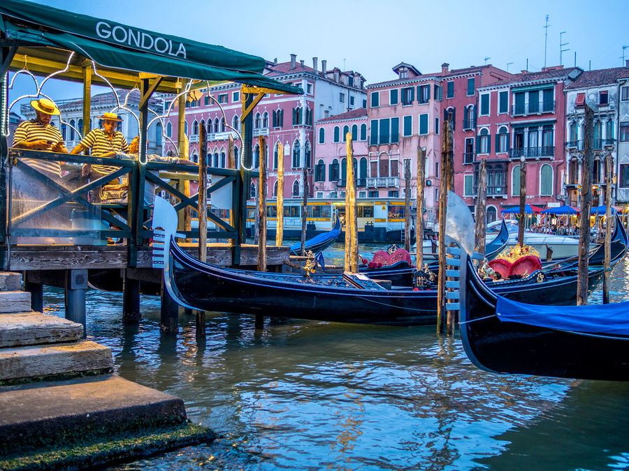 Architecture Building Exterior Built Structure Canal Day Gondola Gondola - Traditional Boat Moored Nautical Vessel No People Outdoors Sky Transportation Water
