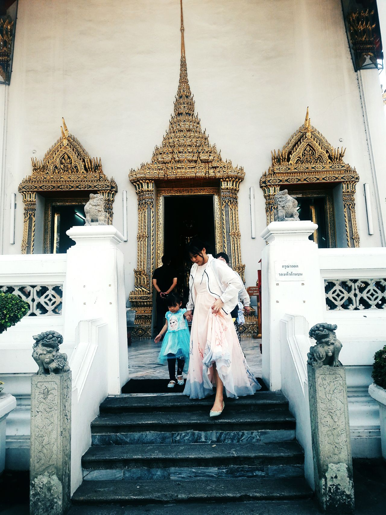 Gold Capture The Moment Culture And Tradition Perspective Partoftemple Photography Thailand Bangkok Thailand Wonderful Place Wonderlust Culture Of Thailand Gold Colored Bestcapture Bestmoment Momanddaughter Love Folk