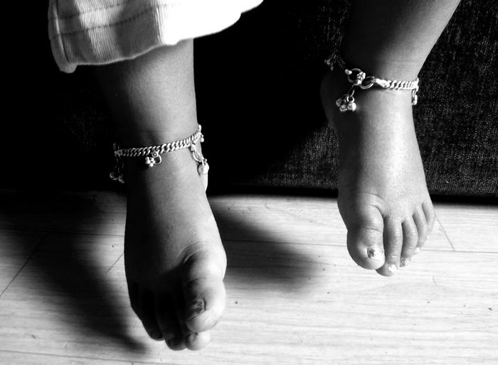 Anklet Body Part Child Childhood Children Cute Human Body Part Human Foot Jwellery Kids Kids Photography Low Section Monochrome Monochrome Photograhy Monochrome Photography Togetherness Eyeem Commercial