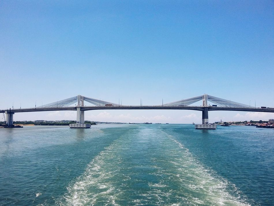 Cebu City Mactanbridge Bridge - Man Made Structure Water Connection Built Structure Business Finance And Industry Architecture Clear Sky Outdoors Sky Travel Destinations Nature No People Beauty In Nature Day