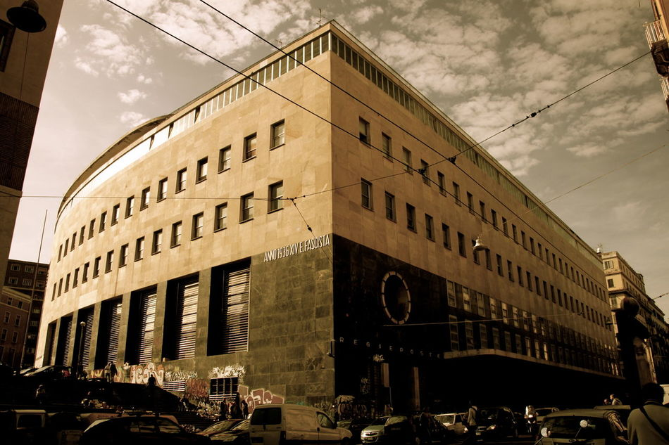 Architecture Building Exterior Built Structure Day Fascistarchitecture Monochrome Napoli Post Office Rationalism Razionalismo Ventennio