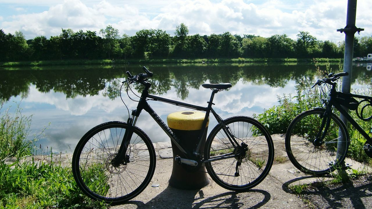 Just a short break....... Bicycle Water Outdoors Nature Sky River View River Main Mainschleife Biketour Germany🇩🇪