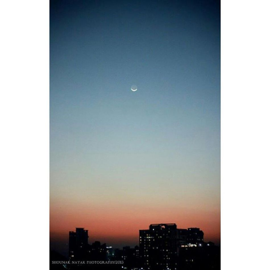How I wish the earth was as calm and serene as the sky. Repost Sky Aakash Moon SkyFever MainBhiPhotographer SorryForFloodingYourTL