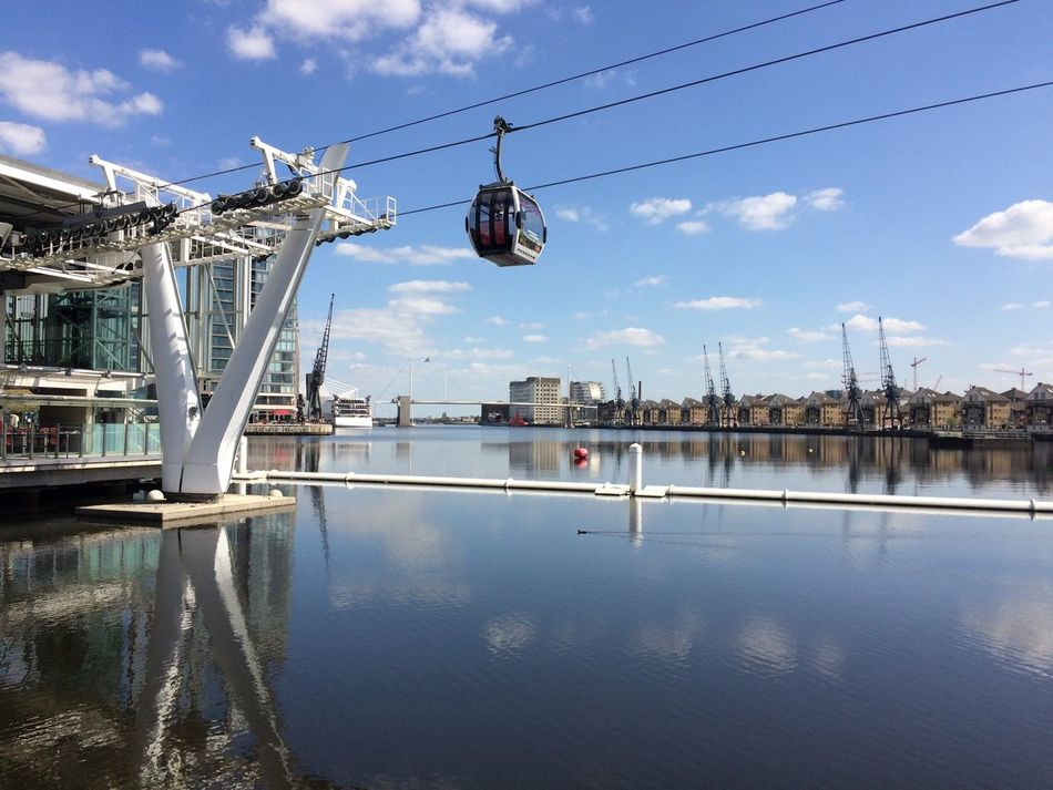 The view from the Crystal, London Architecture Blue Sky Blue Sky And Clouds Cable Cars City Life Cityscape Docklands Docklands London East London Eastend Emirates Greenwich Peninsula Emirates Royal Dock ExCel Centre Llondon Cable Car London London Excel London Sky Lift London Transport No Pople Outdoors Photograpghy  Sunny Day Sunshine The Crystal London Transport For London Water