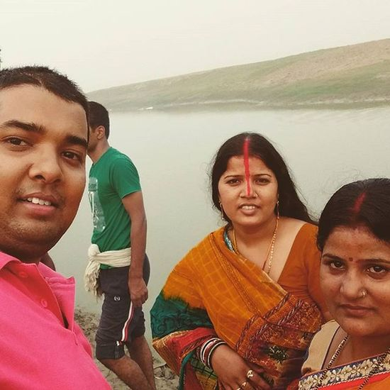SelfieWithSisters Chhathpuja