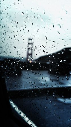 Golden Gate Bridge, San Francisco, California.🌉🌧 Golden Gate Bridge San Francisco California Drop Wet Rain RainDrop Sadness Loneliness Lonely Bridge No People Close-up Car Sky Cold Empathy Thinking Land Vehicle Miles Away