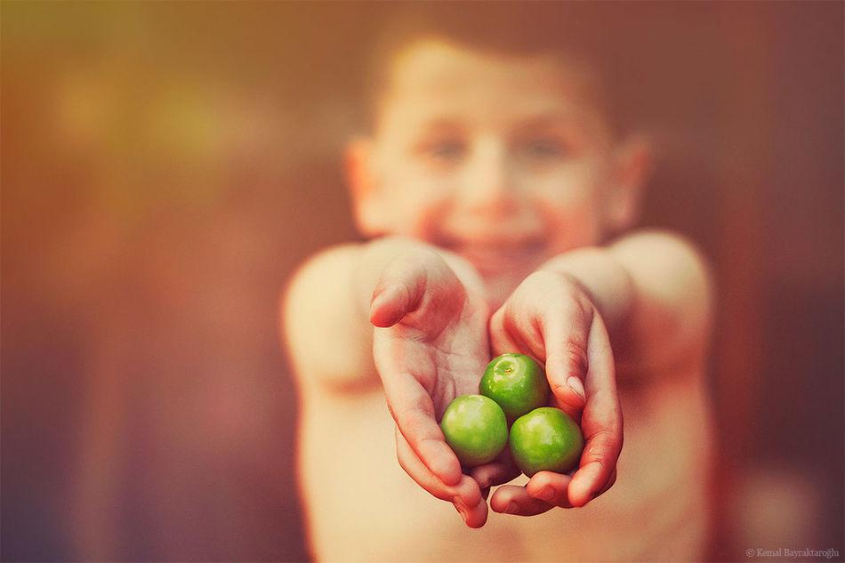 plums Portrait Bokeh Color Portrait Kid
