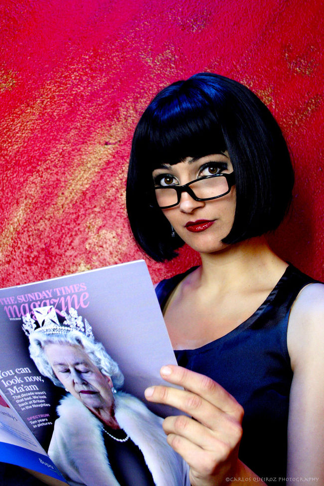 This is a photo of a friend and colleague during a break on a show in my dressing room, unplanned and natural. Black Hair Casual Clothing Confidence  Eyeglasses  Front View Happiness Headshot Leisure Activity Lifestyles Modling Person Portrait Portuguese Actress Smiling The Times Toothy Smile Young Adult Young Women