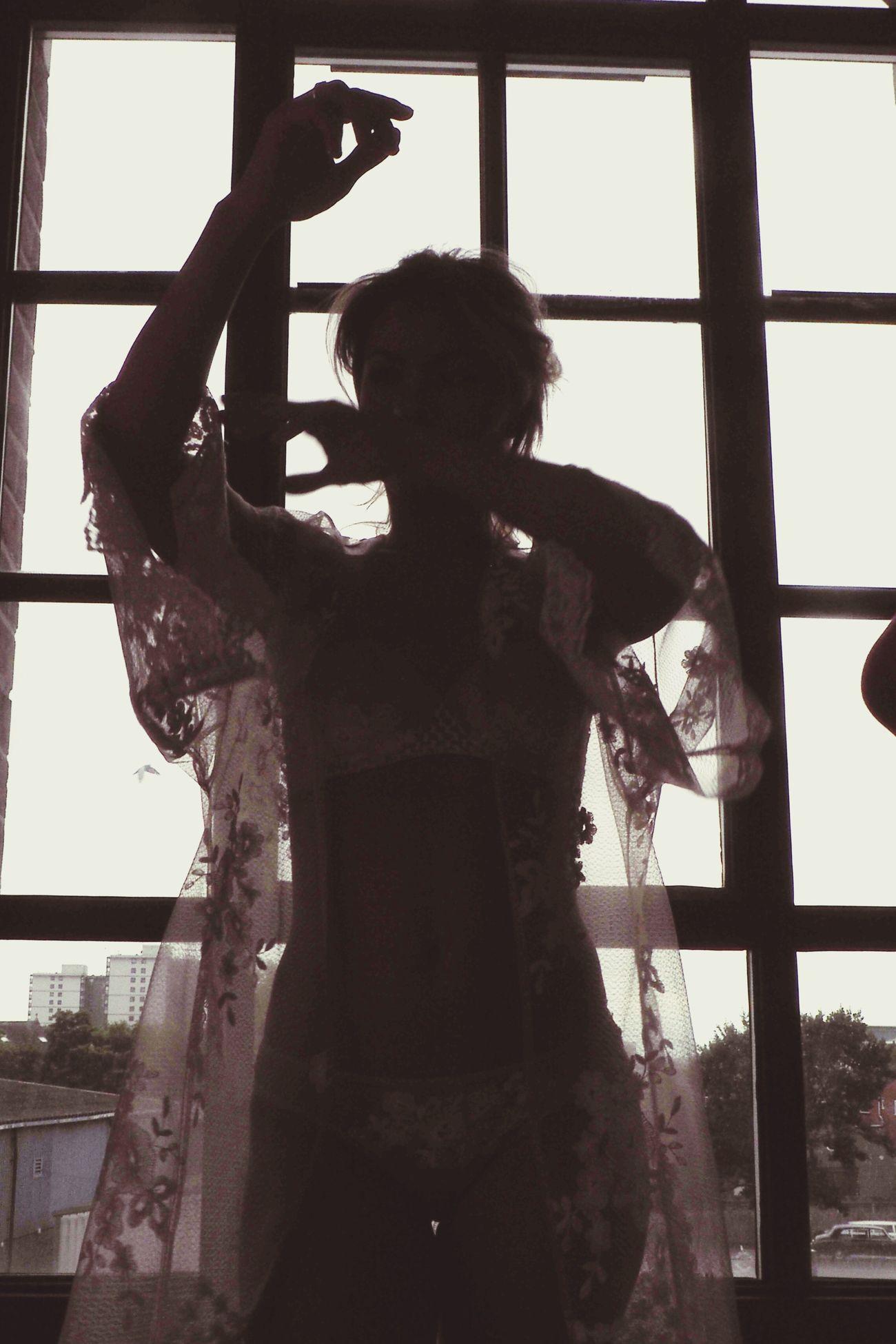 Window Sillouette Light And Shadow Standing Portrait Indoors  Lifestyles Women Fashion Model Light And Shadows The Portraitist - 2017 EyeEm Awards underwear Underwearmodel Underwear😈 Olympus