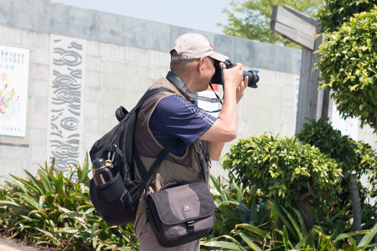 Adult Architecture Building Exterior Built Structure Camera - Photographic Equipment Day One Person Outdoors People Photographing Real People Standing Young Adult