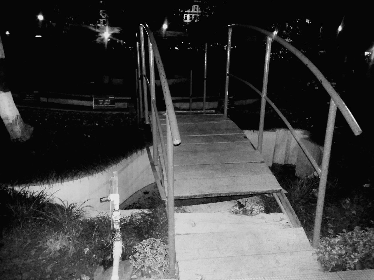Outdoors No People Night Night Photography Mobile Photography Park Bridge - Man Made Structure Close-up Light And Shadow