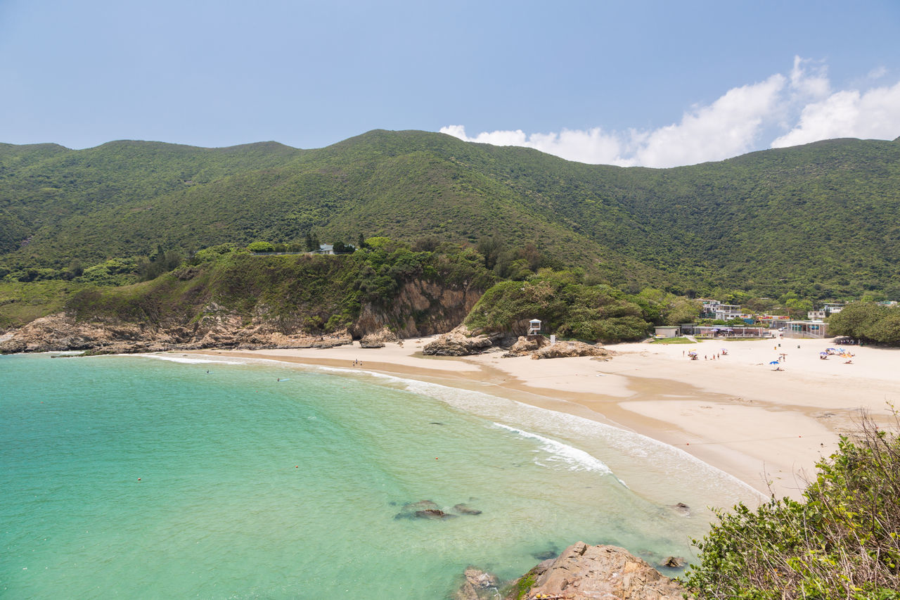 Big waves beach is part of Shek O country park in Hong Kong island. This is the end of the very popular Dragon's Back Trail. Beach Beauty In Nature China Day Hong Kong Landscape Mountain Nature No People Outdoors Sand Scenics Sea Shek O Sky Tranquil Scene Tranquility Travel Tree Water Waves