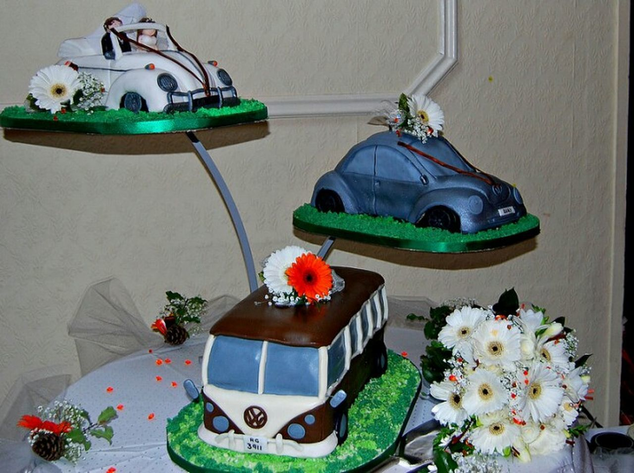 Vw Wedding Cake car wedding Indoors  Flower Table Christmas Decoration No People Celebration Christmas Plant Christmas Ornament Home Interior Flower Arrangement Christmas Tree Close-up Day