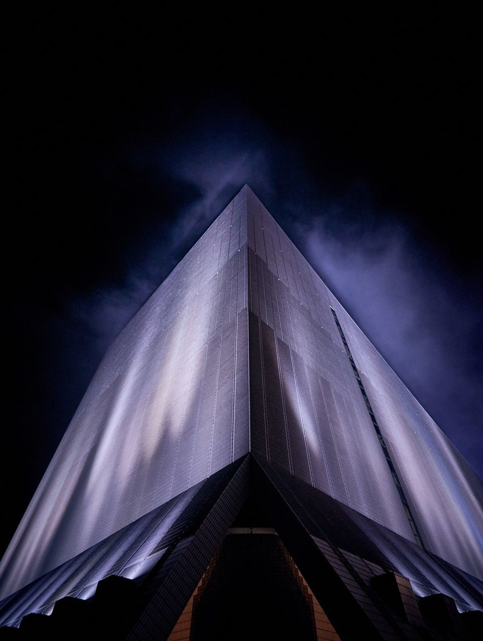 low angle view, architecture, built structure, no people, sky, building exterior, night, outdoors