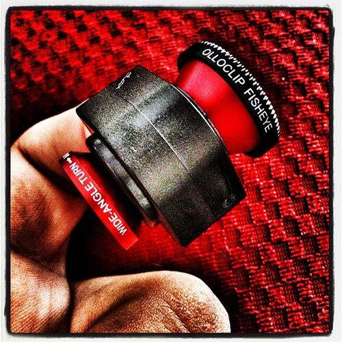 My Olloclip is here! Instagood Instadaily Fun Miltonvt IPhoneography Minilens Toy Attachment Macro Iphonelens Red Lens Photography Fisheye Tech Iphoneonly Gadget Wide Instamood Amazon