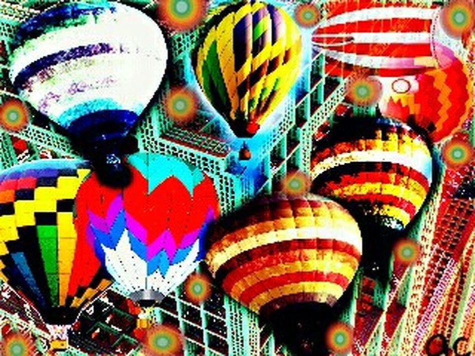 BALLOON DAYCollageart Collageoftheday Color Explosion Photoart