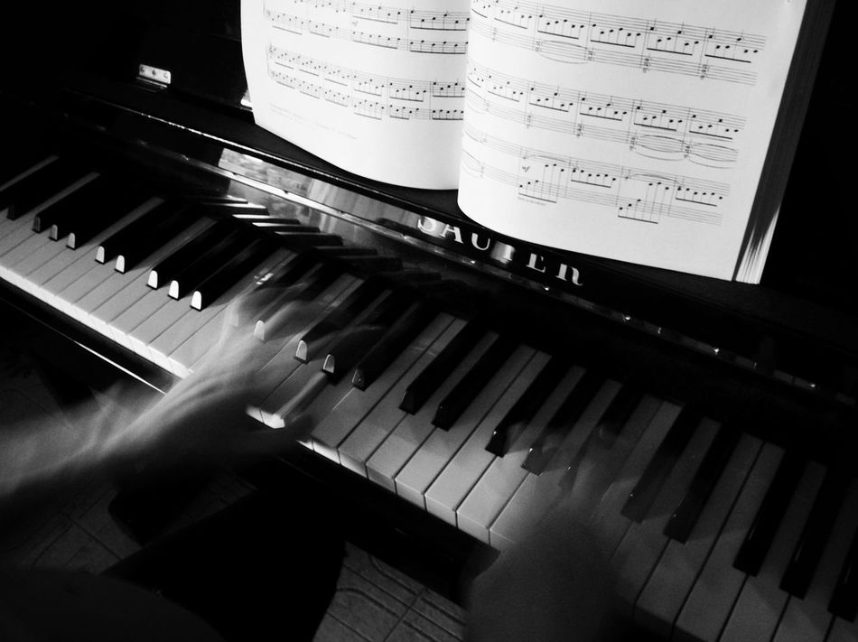 Piano Key Music Piano Old-fashioned Musical Instrument Hands Piano Time Piano Moments EyeEmNewHere Piano Lover Classical Music Musical Equipment Arts Culture And Entertainment Music Piano Blackandwhite Photography Black & White BW Collection Bwphotography BW_photography Bw_collection Music Photography  Long Exposure