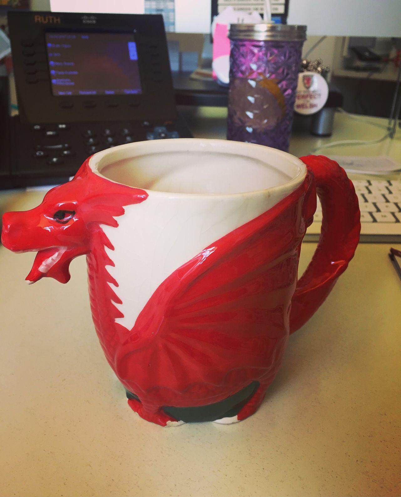Welsh Dragon Welsh Mug Red Desk Office Tea Break Welsh And Proud Wales Expat
