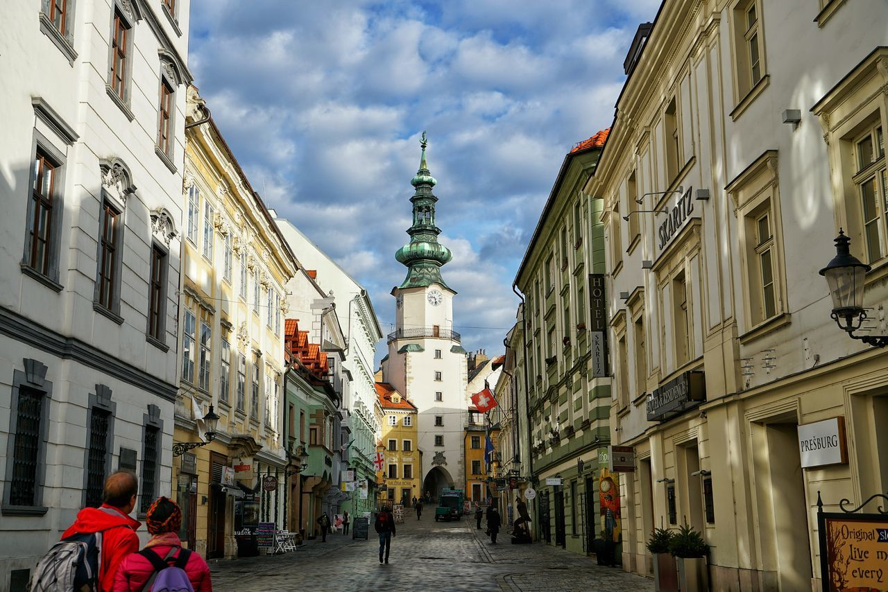 Slovakia Photos Tower Of Michael Door Of Michael Church Baroque Architecture Historic Site Travel A Point Of View Streetphotography Getting Inspired Clouds And Sky Cloudpark Spire  Walking Around Landscape Taking Photos Streamzoofamily The Great Outdoors - 2017 EyeEm Awards The Street Photographer - 2017 EyeEm Awards The Architect - 2017 EyeEm Awards