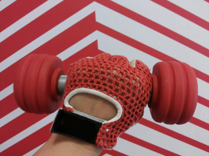 Red Gym Glove Gym Glove Gym Hand Weight Red Gym Equipment Hand In Glove Hand In The Gym Red-white Gym Hand Weight Fitness Healthy Lifestyle Gym Red-white Stripes Valencia, Spain Patron TakeoverContrast
