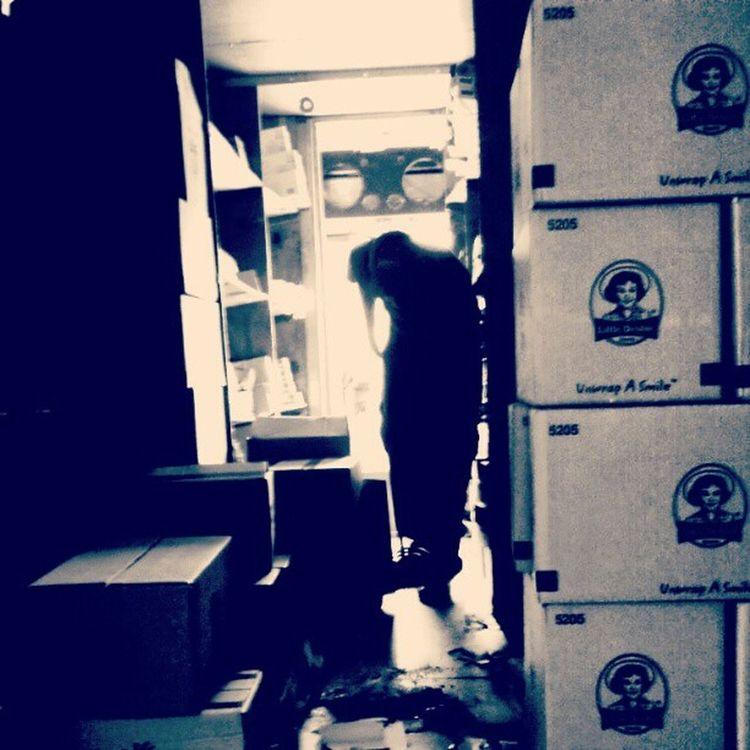 Cleaning the truck. LittleDebbie OnceIhadaregularjob