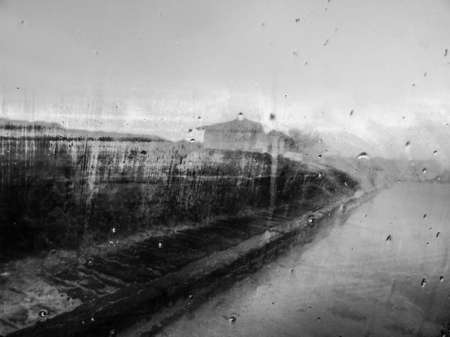 Rain Window Weather RainDrop Water Abstract Winter No People Black And White Black & White Rany Day Rainy Days