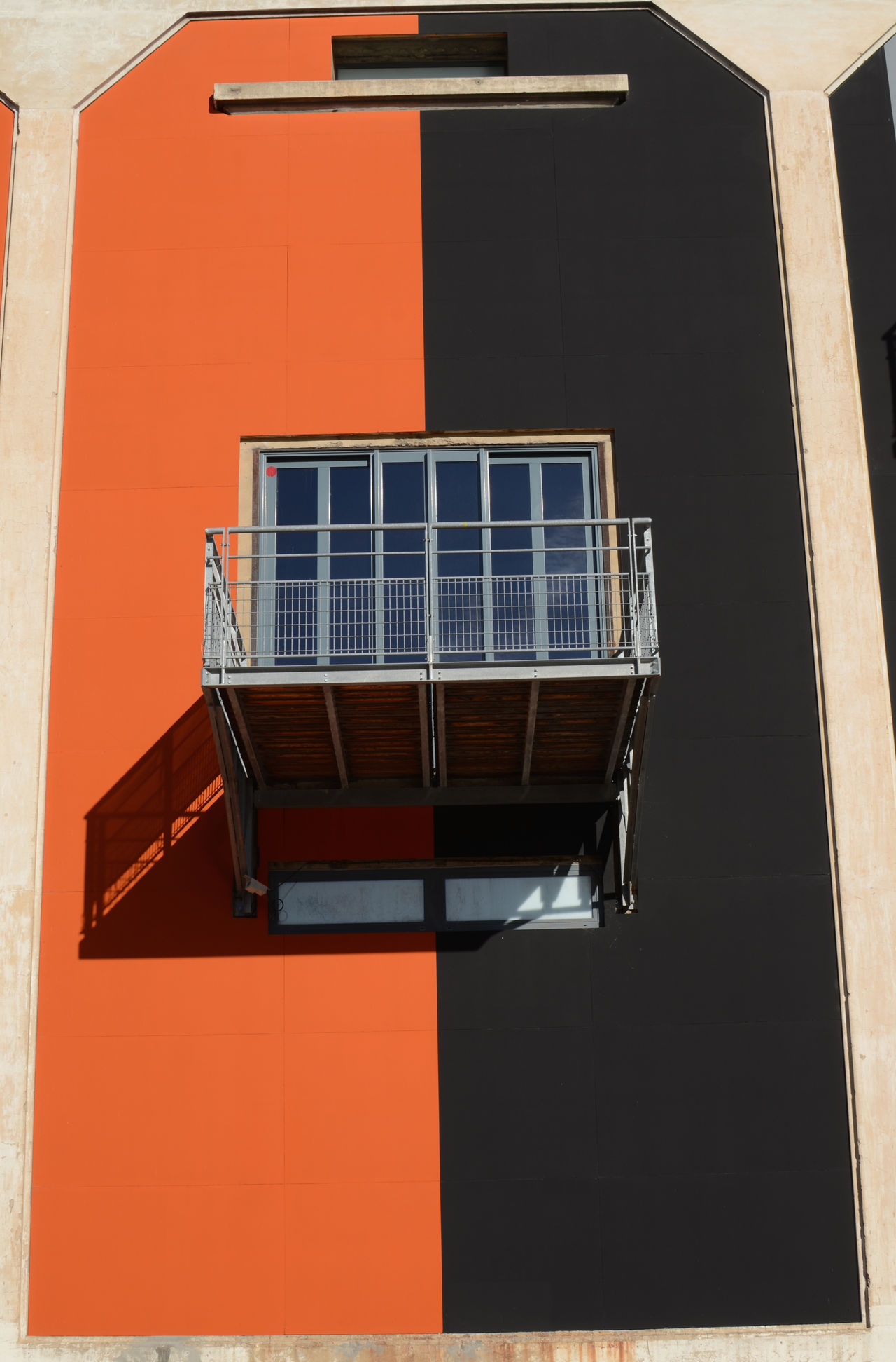 Architecture Balcony Building Exterior Built Structure Close-up Color Day Facade Building Frontage No People Orange Outdoors Sunny Window