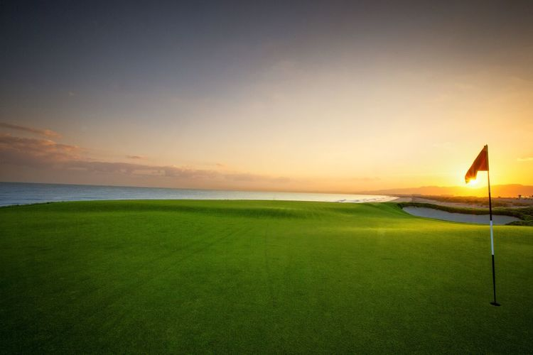 Sunrise... Golden Hour Golf Course Luxurylifestyle  Landscape Beautiful View Al Mouj Golf Muscat Oman Visit Oman