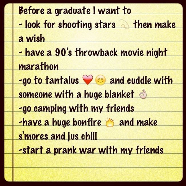 Making My Bucketlist ❤