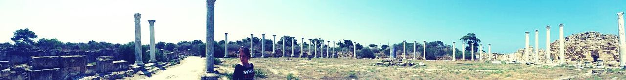 Cyprus North Cyprus Kuzey Kıbrıs  Famagusta Salamis Salamisharabeleri Ancient City Greek Panaromic Photos Paranoma
