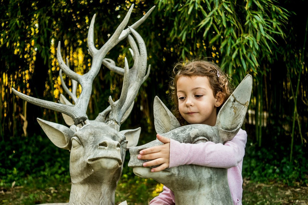 Child Outdoors My Girl Childhood Open Edit Color Fragments Of Life Deers Portrait