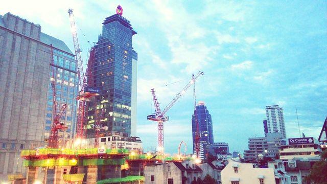 Towercrane Building Construction Bangkok