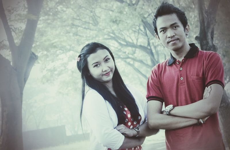 Taking Photos me and my wife... prewed...
