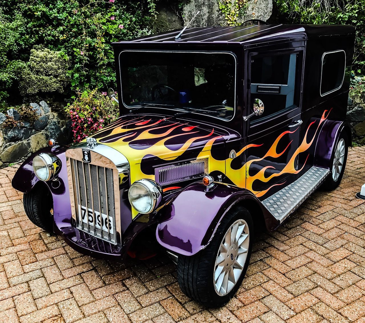 Outdoors Land Vehicle Day No People Nature Car Purple Fire Flame Guernsey EyeEmBestPics EyeEm Best Shots EyeEm EyeEm Gallery