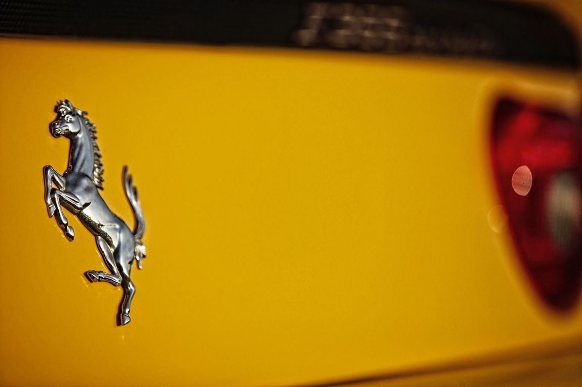 Yellow Ferrari Ferrari F355 Spider Sunset Luxurylifestyle  Supercar Shallow Depth Of Field Details Prancing Horse Maranello Automobile Automotive Photography