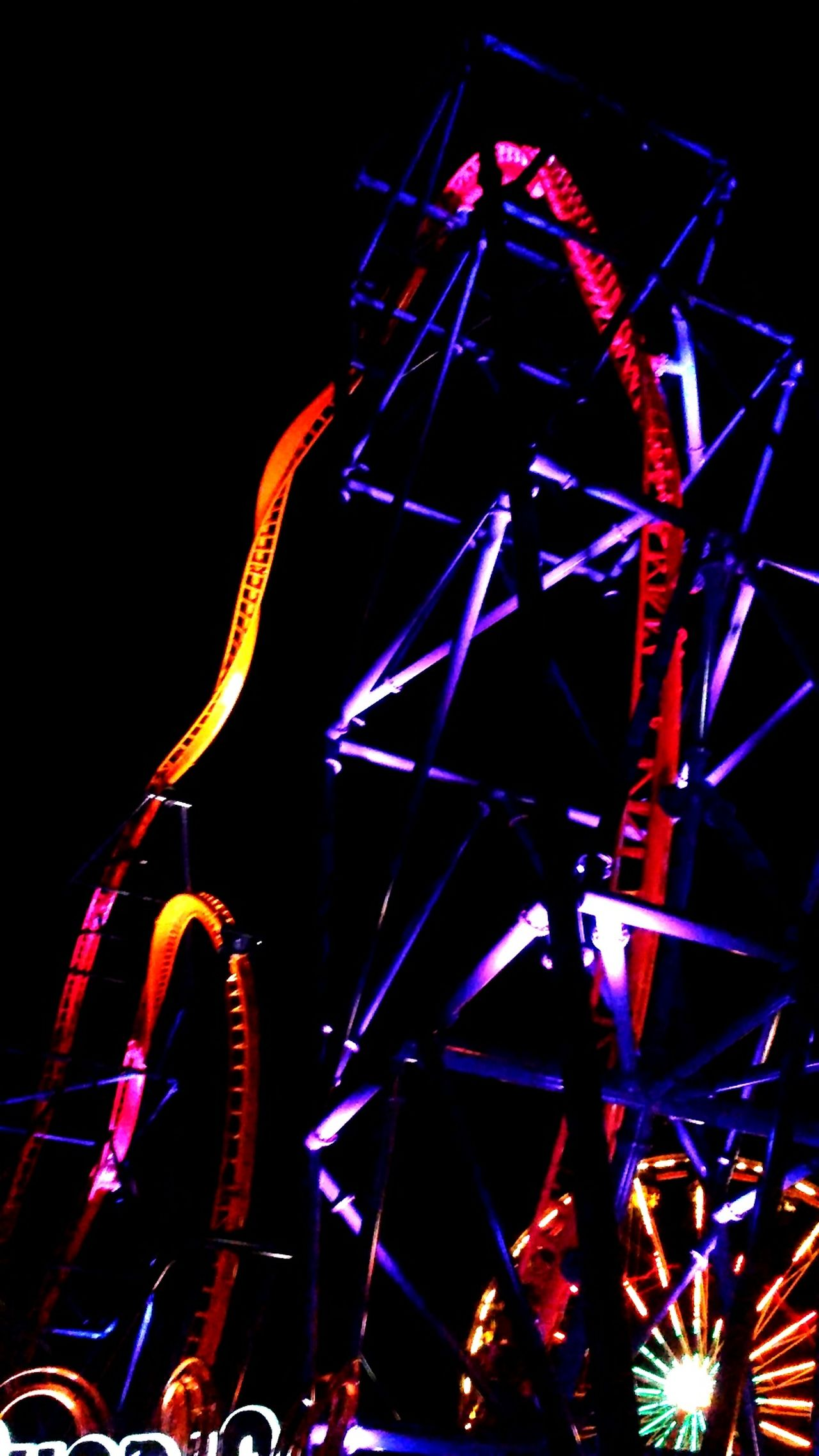 Rollercoaster Night Black Background Illuminated Themepark Connecticut Newengland Excitementforeveryone Psycosis Lakecompounce Thrill Rides