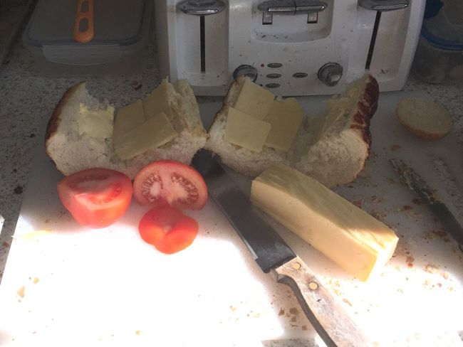 Lunch Cheese And Tomato Food Preparation Food Prep!!!!  Food Sunshine And Shade