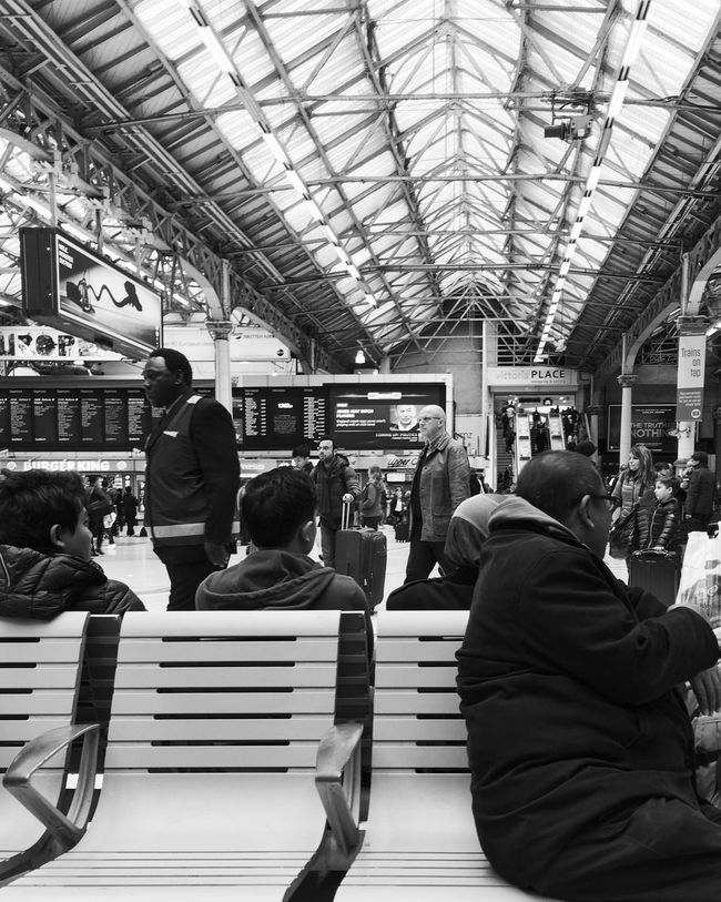 Victoria Airport Blackandwhite Casual Clothing Group Of People IPhone IPhoneography Iphoneonly Iphonephotography Iphonesia Journey Leisure Activity Lifestyles Medium Group Of People Men Modern Monochrome Passenger Public Transportation Showcase May Sitting Subway Station VSCO Vscocam