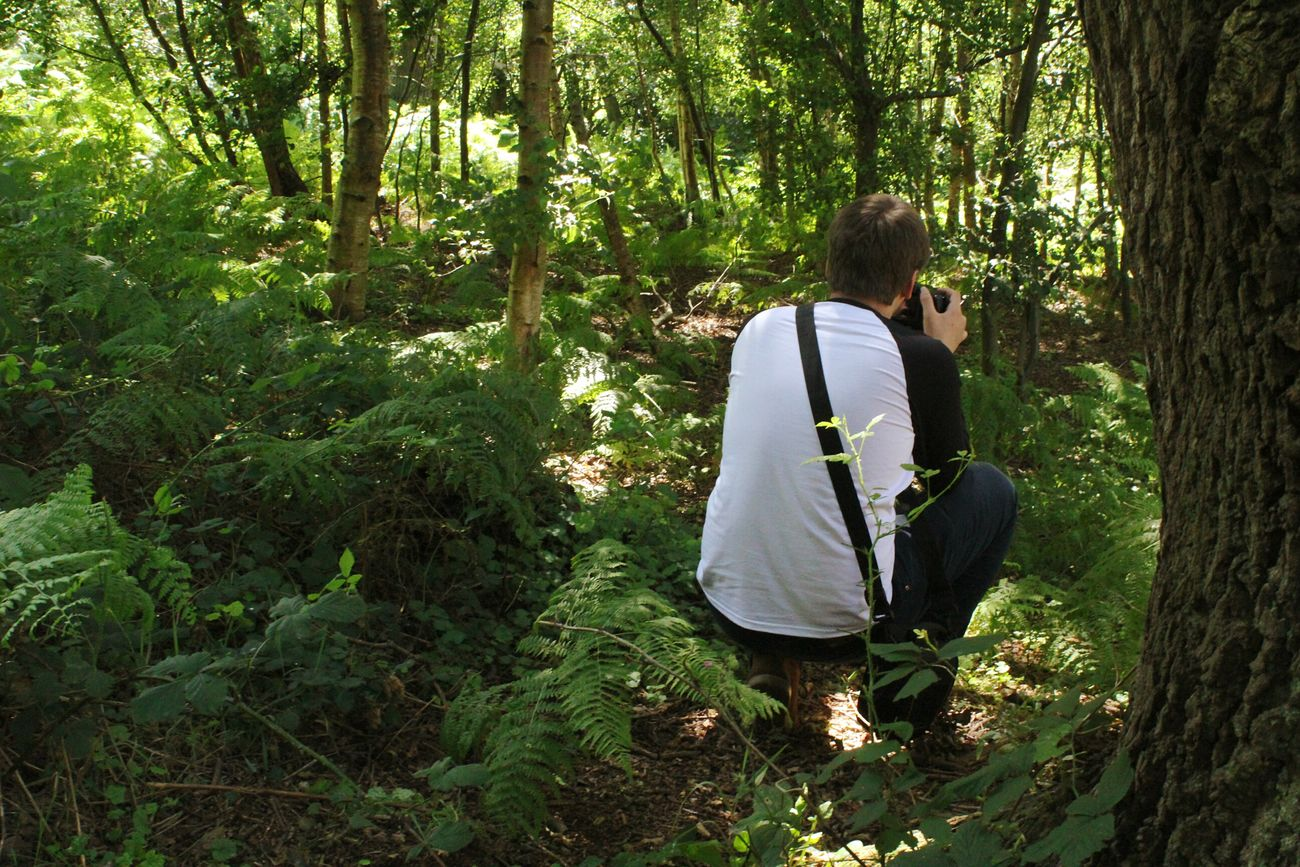 Photographer Photographer In The Shot Forest Forestwalk Trees Nature