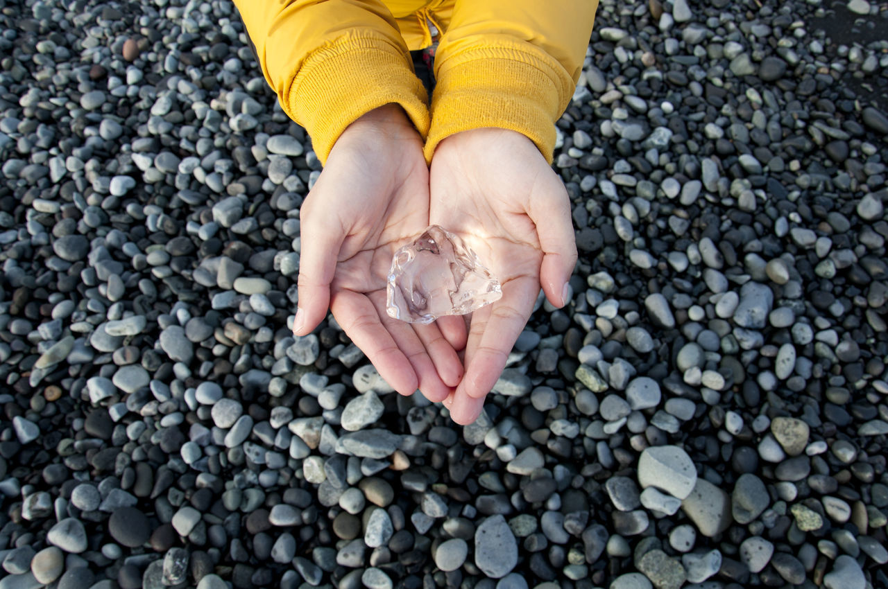 Close-up Glacier Hands Human Body Part Ice Iceland Jökulsárlón Nature Outdoors Sea Transparent Travel Wanderlust Water Yellow Fresh On Market 2016