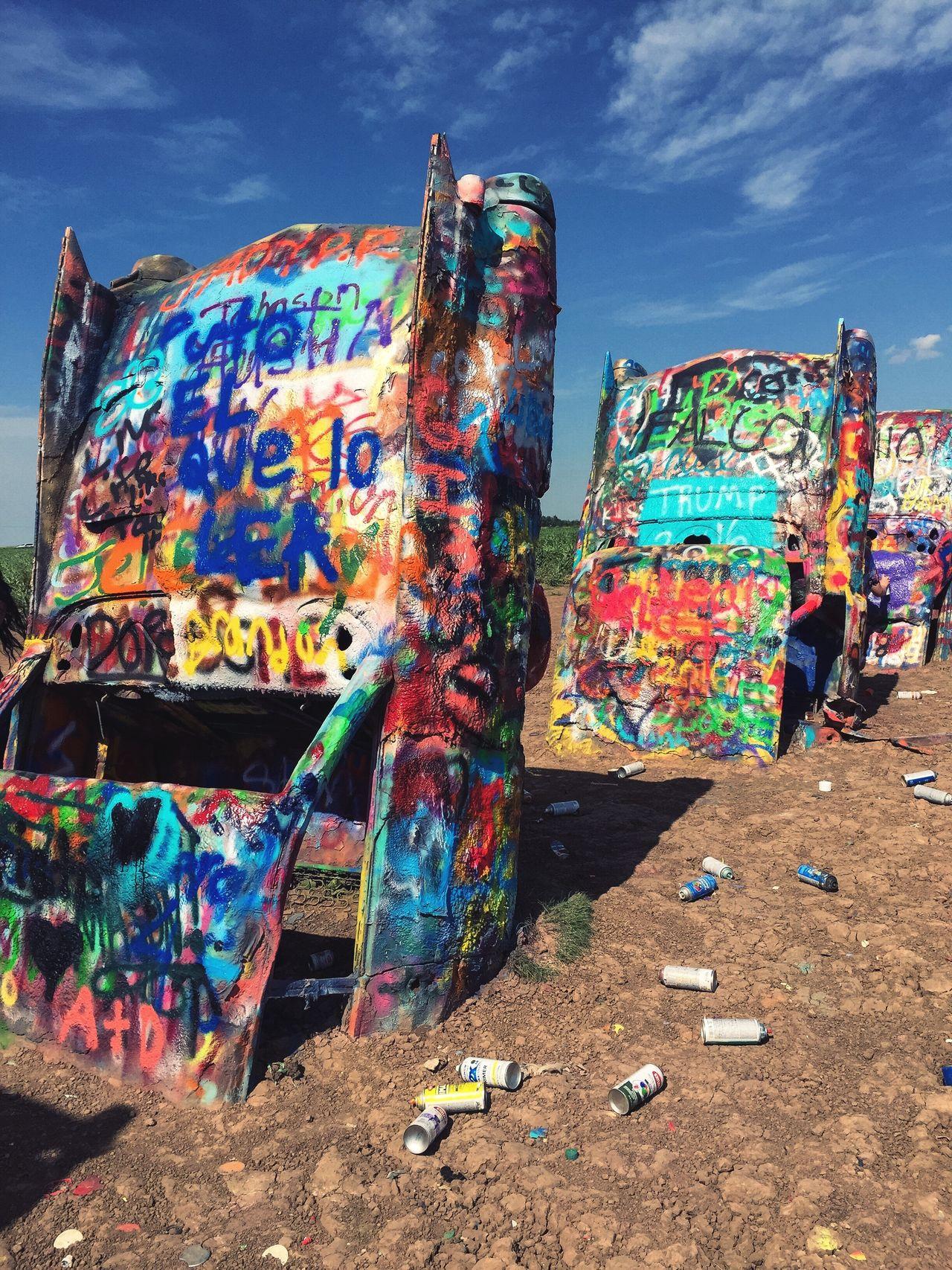 Graffiti Route 66 Cadillac Ranch
