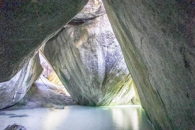 The Baths Ocean Water Beach Bvi Caribbean The Baths Virgin Gorda Rocks Green Blue