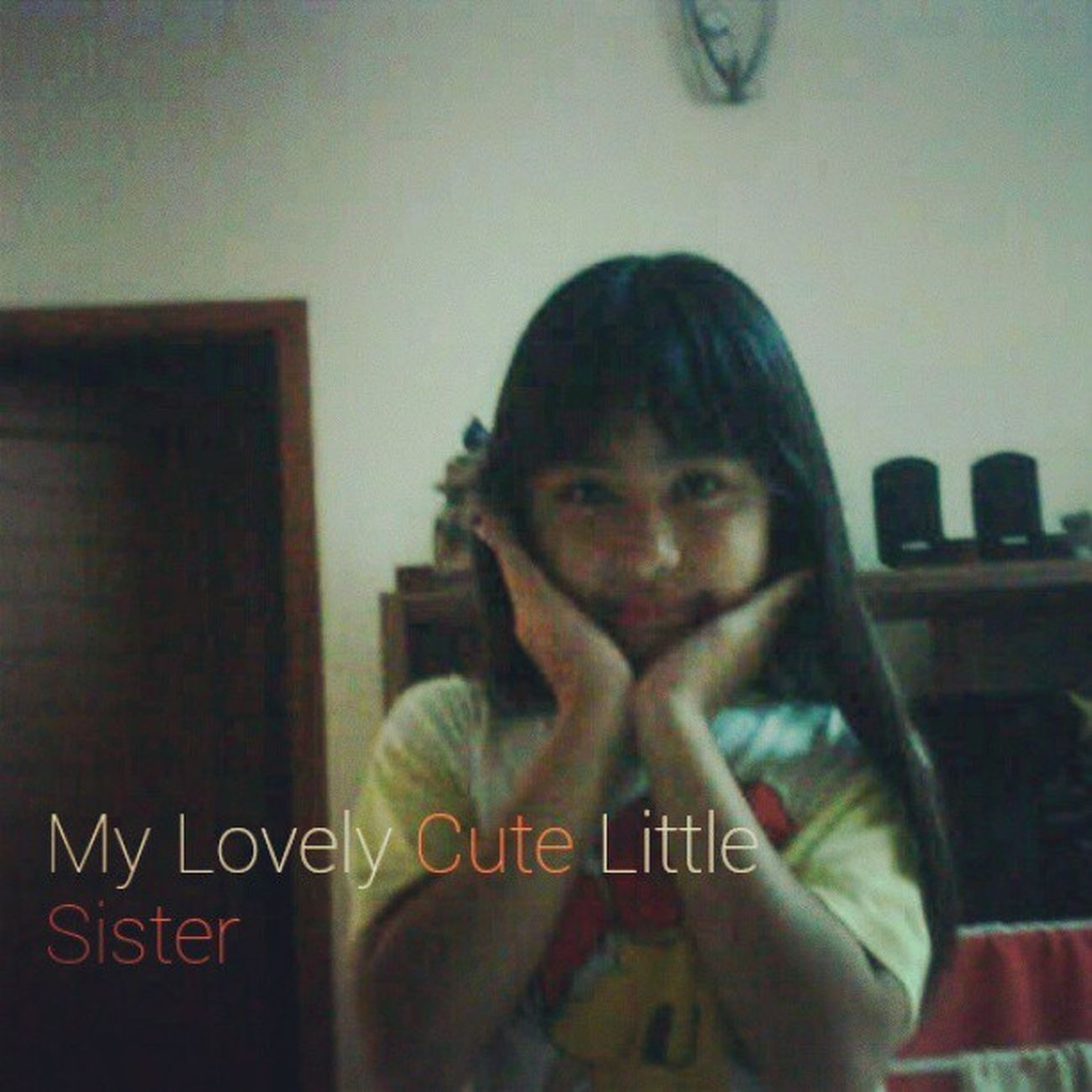 "My little sister @michelletambingon. This pic was sent by bbm, she said: ""kangen kakak, cantik kan q?"" Cutegirl Cutesister Family Mycutesisters"