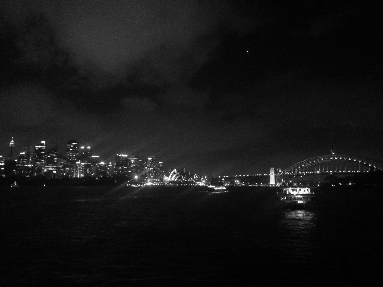 City Sydney Opera House Australia Showboats View Skyline Cityscape Moonlight Harbour Bridge View Lifestyles Enjoy The Silence Get Impressed