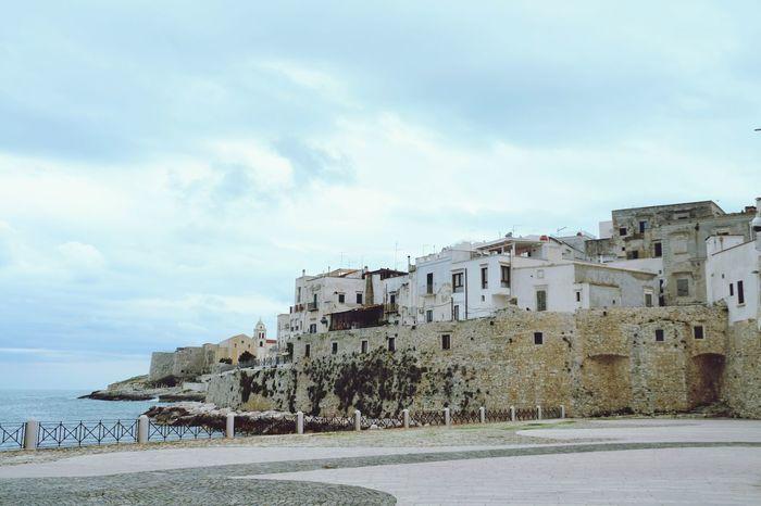 Vieste Vieste Puglia Gargano Architecture Sky Town No People Italy Outdoors Water Sea Nature